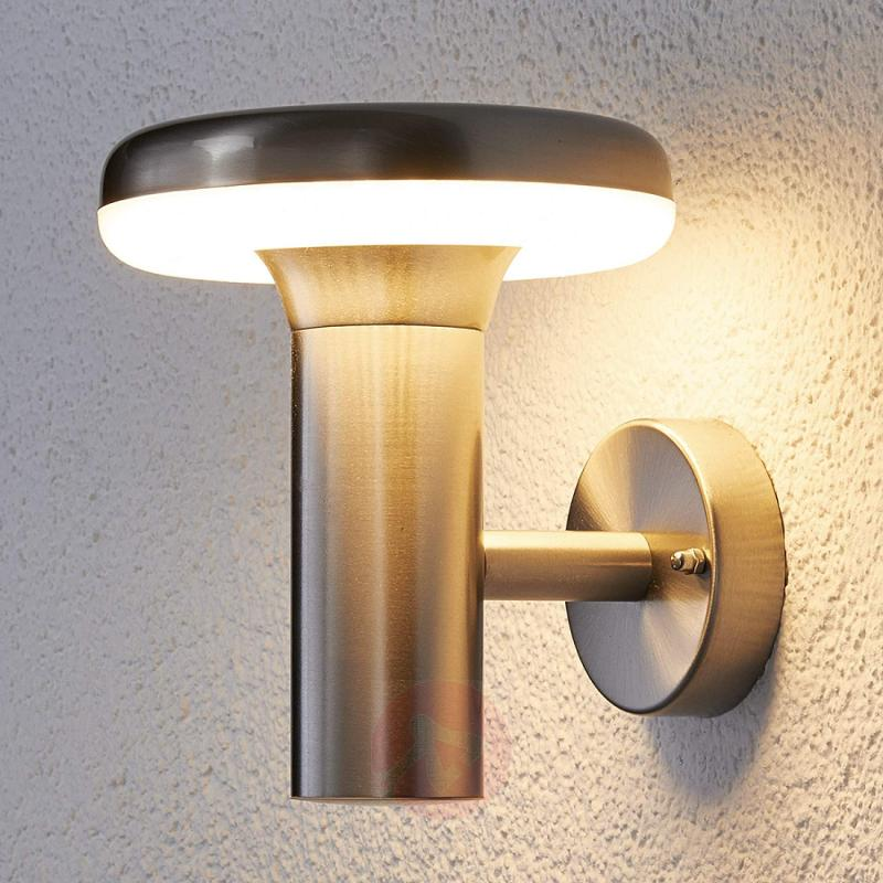 modern led outdoor wall light pepina stainless steel outdoor wall