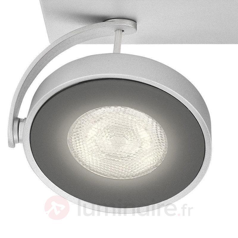 Plafonnier LED Clockwork de couleur aluminium - Spots et projecteurs LED