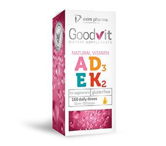 Goodvit Natural Vitamin A+D3+E+K2 MK-7 – drops - null