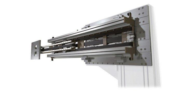 Telescopic Actuator - Wall Mounted - Telescopic actuator with a synchronized toothed belt system for effective linear