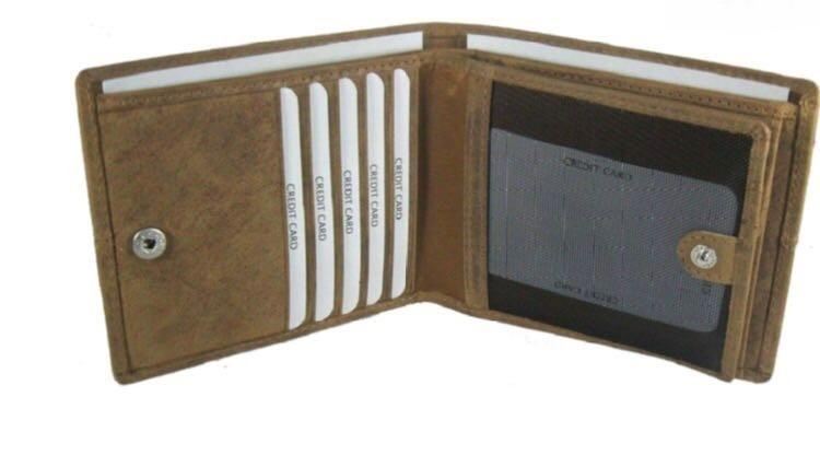 LEATHER WALLET  - BROAD COGNAC LEATHER WALLET