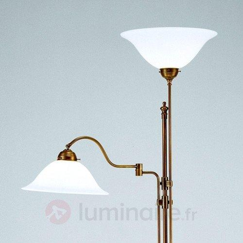 Lampadaire à éclairage indirect 2 flammes Gustav - Lampadaires à éclairage indirect
