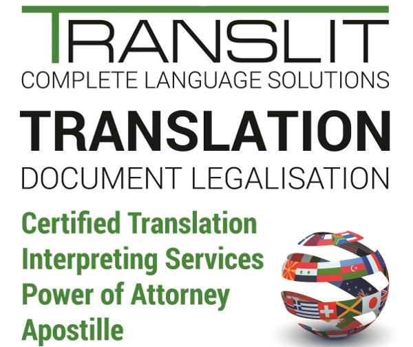 Translation - Certified, Power of Attorney, Apostile