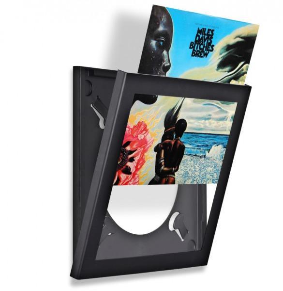 LP Schallplattenrahmen - Vinyl Rahmen - schwarz - 4er-Pack - Vinyl / LP
