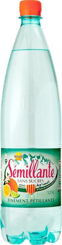 Sémillante Gazéifiée Agrume Sans Sucres 125 cl - Boissons