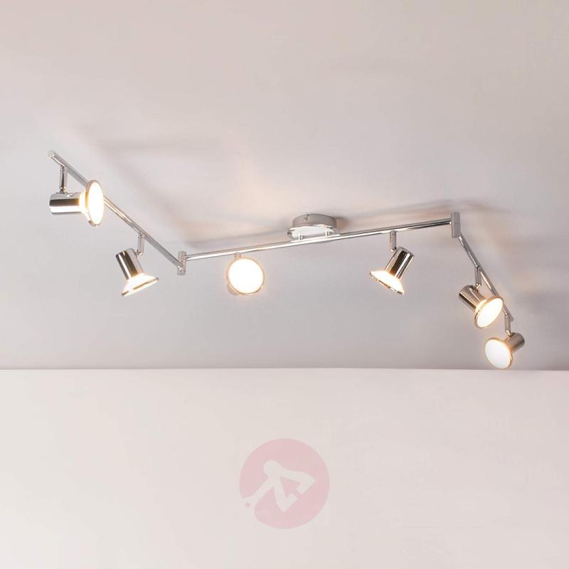 6-bulb LED kitchen spotlight Charley - indoor-lighting