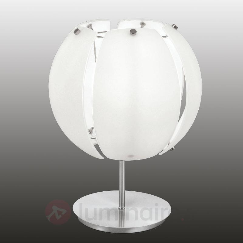 Lampe à poser Thea, abat-jour en verre - Lampes de chevet
