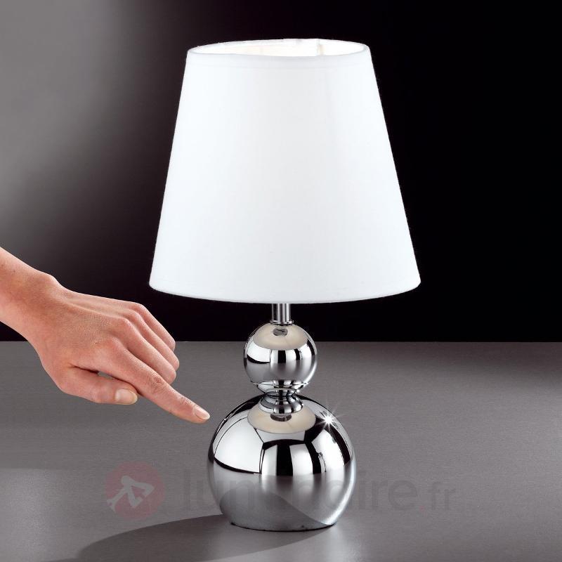 Lampe à poser SOFIA variateur d'intensité, blanc - Lampes de chevet
