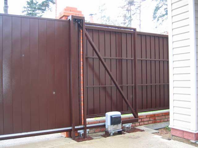 Откатные ворота с установкой под ключ в Запорожье - Установка ворот в Запорожье