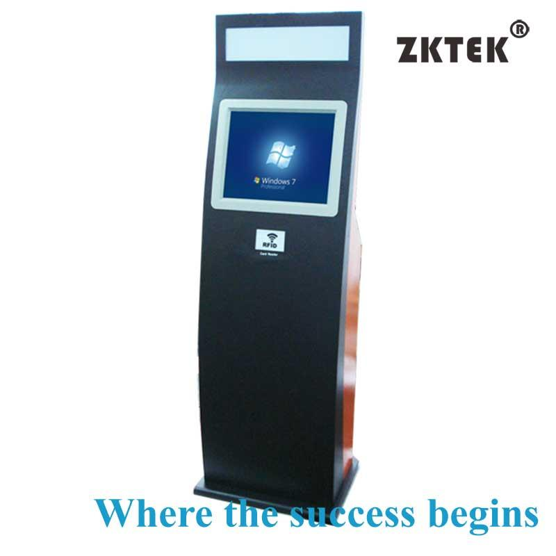 H5 freestanding visitor management and payment kiosk