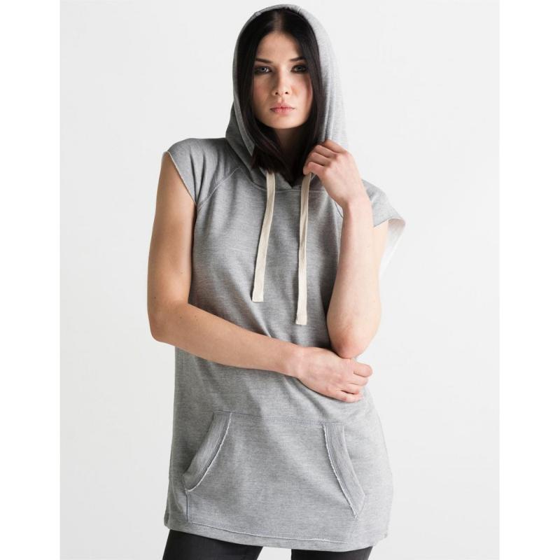 sweat shirt femme sans manches avec capuche rue du print france. Black Bedroom Furniture Sets. Home Design Ideas