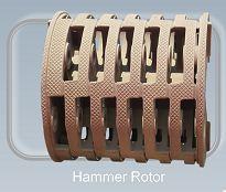 Hammer rotor - Wear resistant equipment