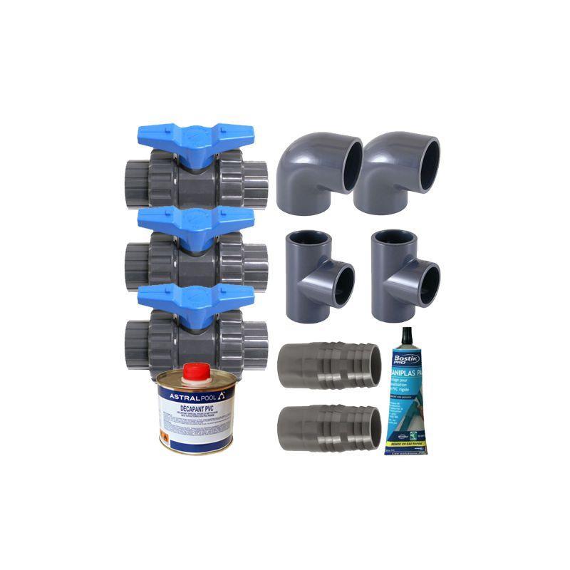 Accessoires PISCINES - Kit by-pass deluxe pour pompe à chaleur