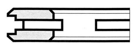 R10 a feritoia con pattini smussati - Produzione di fasce elastiche raschiaolio a Milano