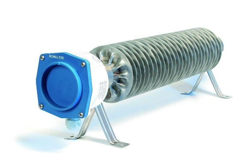 Finned Tube Heater w/ low surface temperature - Finned tubular heater, RiRo-NT, Stainless steel, IP66/IP67