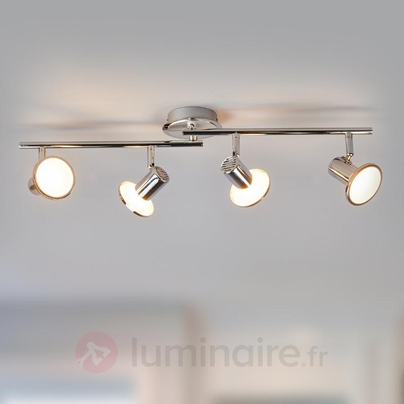 Plafonnier avec spots LED Charley à 4 lampes - Plafonniers LED