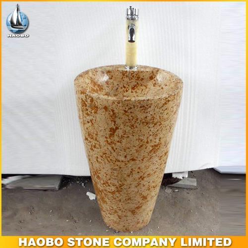 Stone Pedestal Sink HB-SK0061 - Wash Sink & Basin