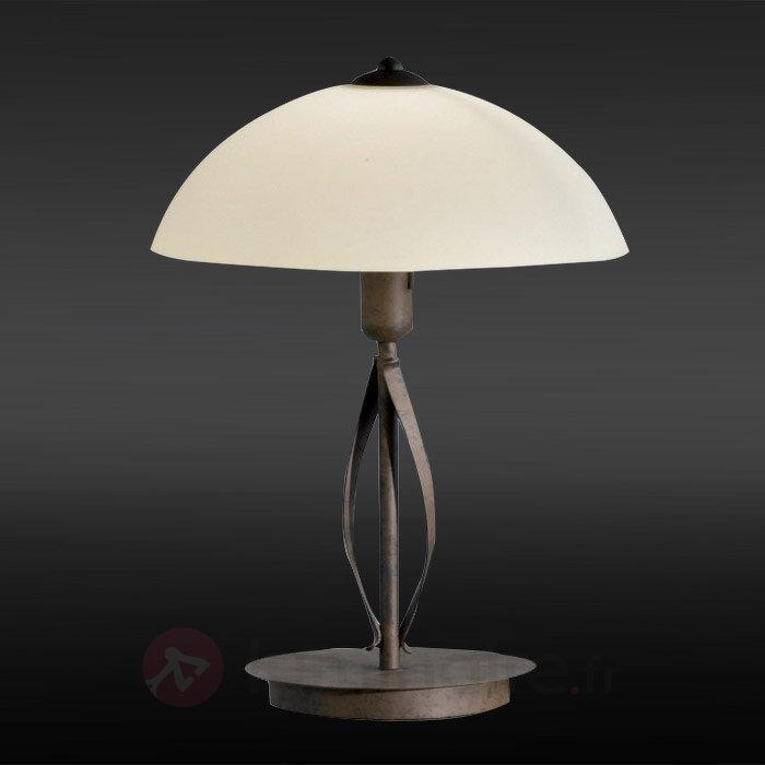 Jolie lampe à poser Québec en verre Scavo - Lampes à poser rustiques