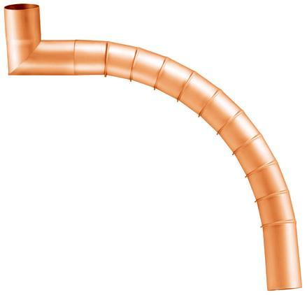 segmented elbow Ø 100, pressed - copper - segmented elbows