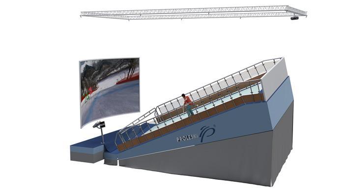 Professional ski simulator Indoor training for winter sports - Professional ski simulator Indoor training for winter sports Ski and snowboard
