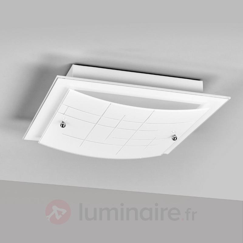 Plafonnier LED en verre Denisa, design esthétique - Plafonniers LED