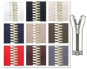 Zip 5 Excella © laiton séparable (Standard - 60 cm - Noir) - Fermetures à glissière