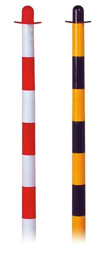 Plastic chain post red/white - H 86 cm - 3 kgs - round b ... - SIKEPARWR