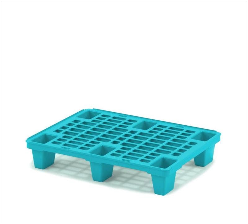 Light perforated plastic pallet 800х600 with legs - Art.: 02.116