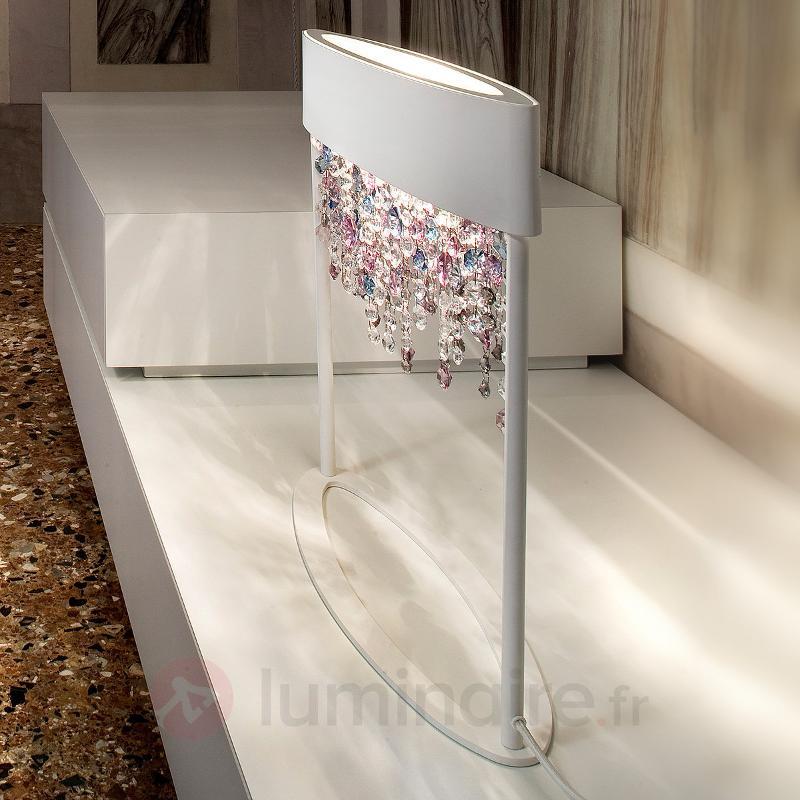 Lampe à poser Ola TL2 blanche et multicolore - Lampes à poser designs