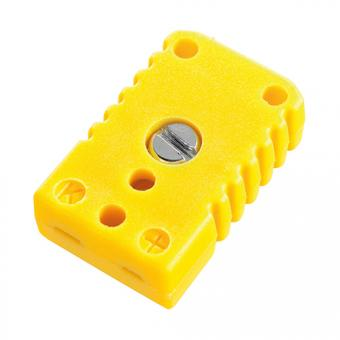Miniature socket type K, yellow - Thermocouple connectors