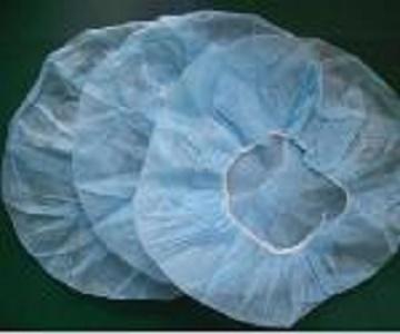 Casquette de bouffant jetable - Couleur: bleu, blanc, vert Matériel: tissus non-tissés de pp Taille: 19 '' 21 ''