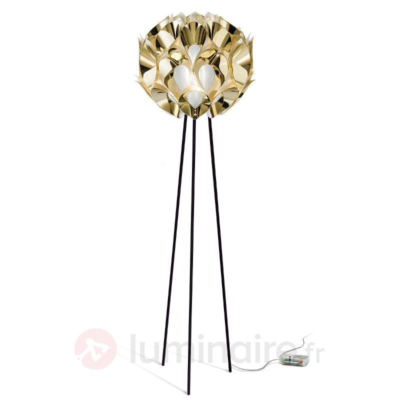 Ravissant lampadaire Flora en doré - Lampadaires design
