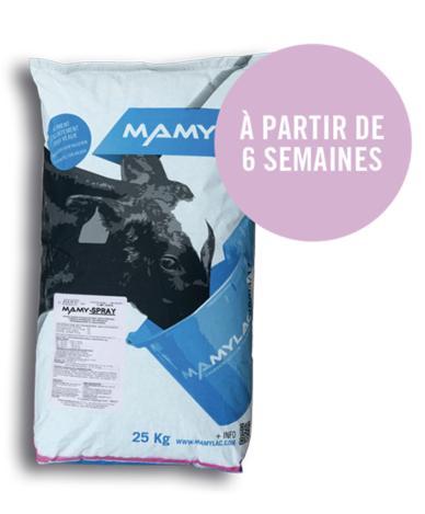 Aliment complet d'allaitement pour veaux d'élevage - Mamy-Spray