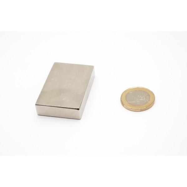 Block magnet, Neodymium, 46x30x10mm, N45, Ni-Cu-Ni,... - null