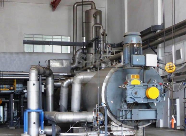 Séchage de boues de station d'épuration - Sécheur à couche mince horizontal pour séchage de boues de station d'épuration
