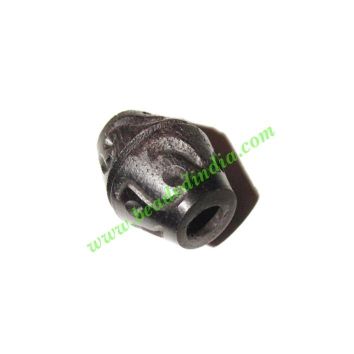 Wooden Ebony Beads, color black, size 13x17mm, weight approx - Wooden Ebony Beads, color black, size 13x17mm, weight approx 2.01 grams