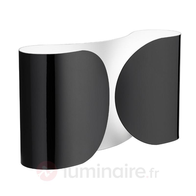 Applique brillante FOGLIO noire - Appliques design