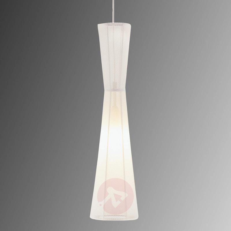 LED hanging lamp Felice, 60 cm, white - indoor-lighting