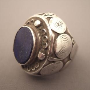 Bagues - Argent, lapis lazuli, Afghanistan