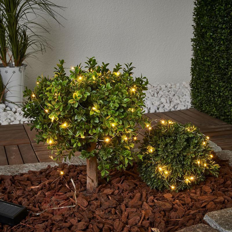 Guirlande lum. solaire Dew Drop, 250 cm de long - Lampes solaires décoratives