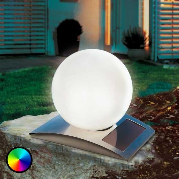Boule lumin. solaire,variateur couleur,7 couleurs - Toutes les lampes solaires