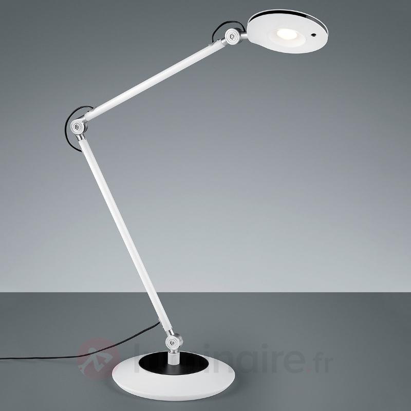Lampe à poser LED Roderic articulée en blanc - Lampes de bureau LED