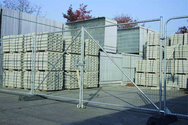 Galvanized building fence - 3,5 m x 2 m - weight 17,0 kg - SIHEKW