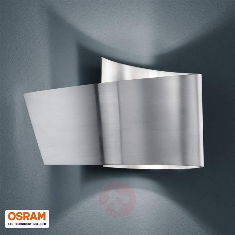 Tobi wall light with IP44, matt nickel - Wall Lights