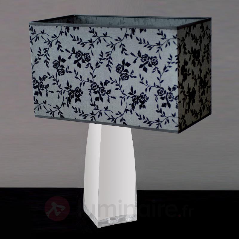 Lampe à poser décorative JULIA verre opale - Lampes à poser en tissu