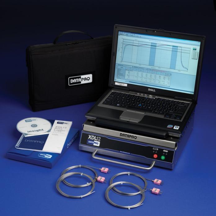 DATAPAQ XDL12 externer Temperaturdatenlogger - Einfach zu bedienender Datenlogger für Temperaturgleichmäßigkeitsmessungen (TUS)