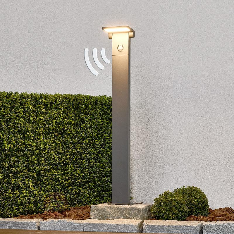 Borne lumineuse à détecteur de mouv. Marius, 80 cm - Bornes lumineuses avec détecteur