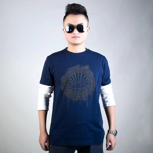 Long sleeve printed men's t-shirt for wholesale
