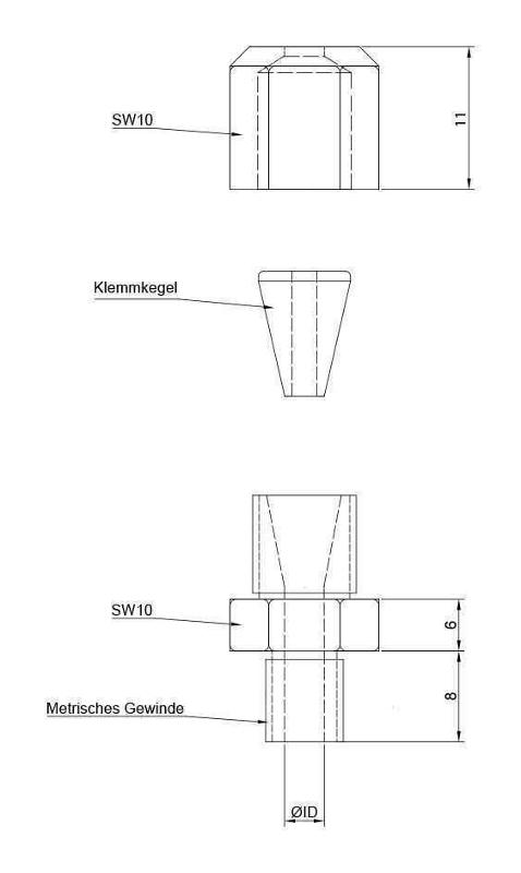 Ceramic compression-type fitting - Compression fittings