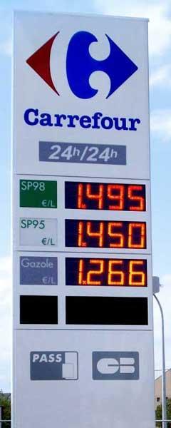 Afficheur carburant -